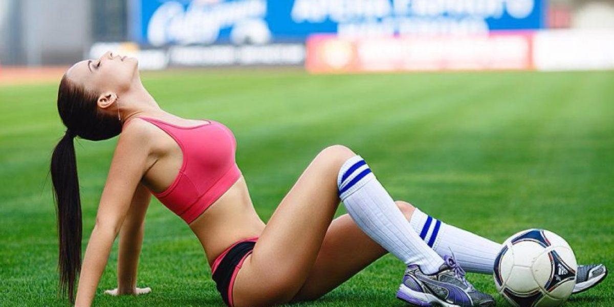 Por una buena causa: Modelo ucraniana se desnuda para ayudar a su club favorito