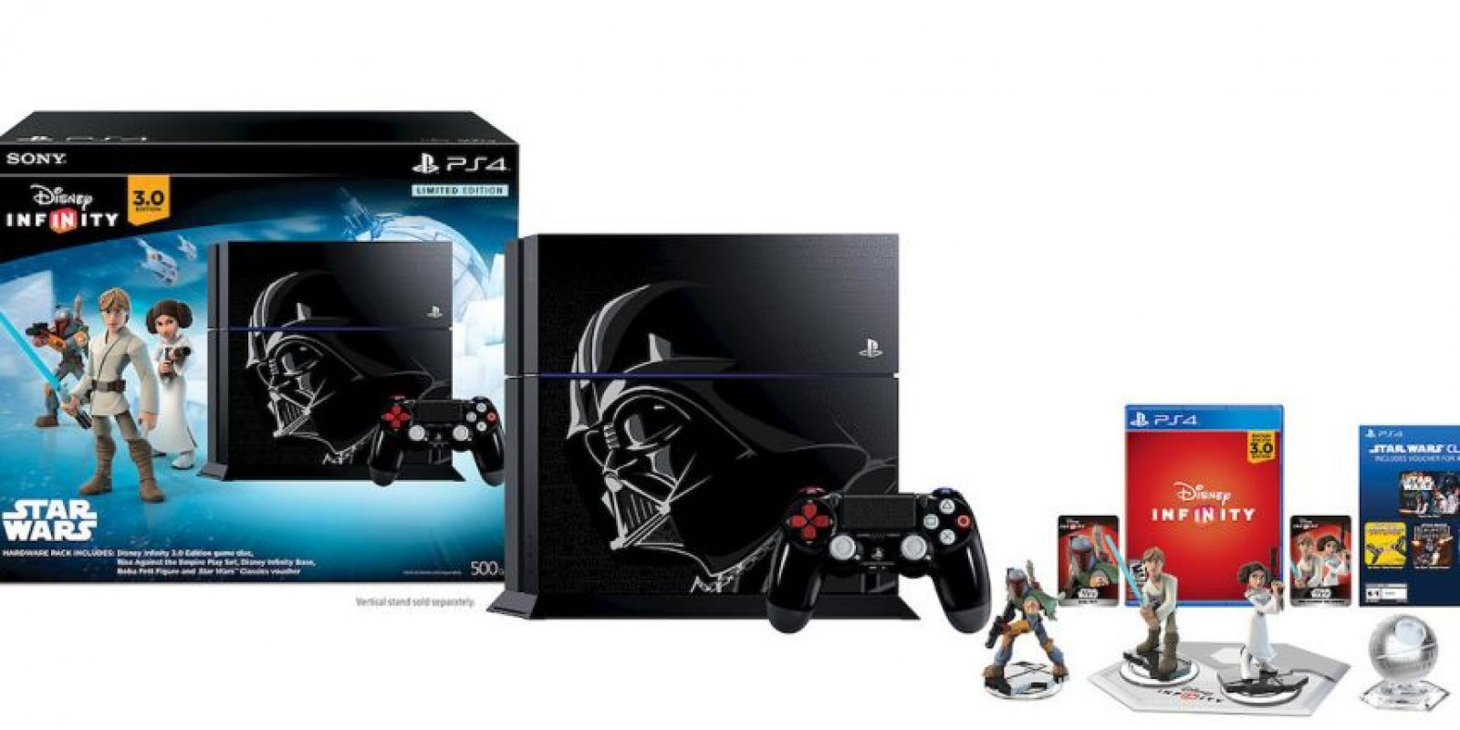 Paquete Limited Edition Disney Infinity 3.0: Star Wars PS4 de 500GB en 399 dólares. Foto: Sony