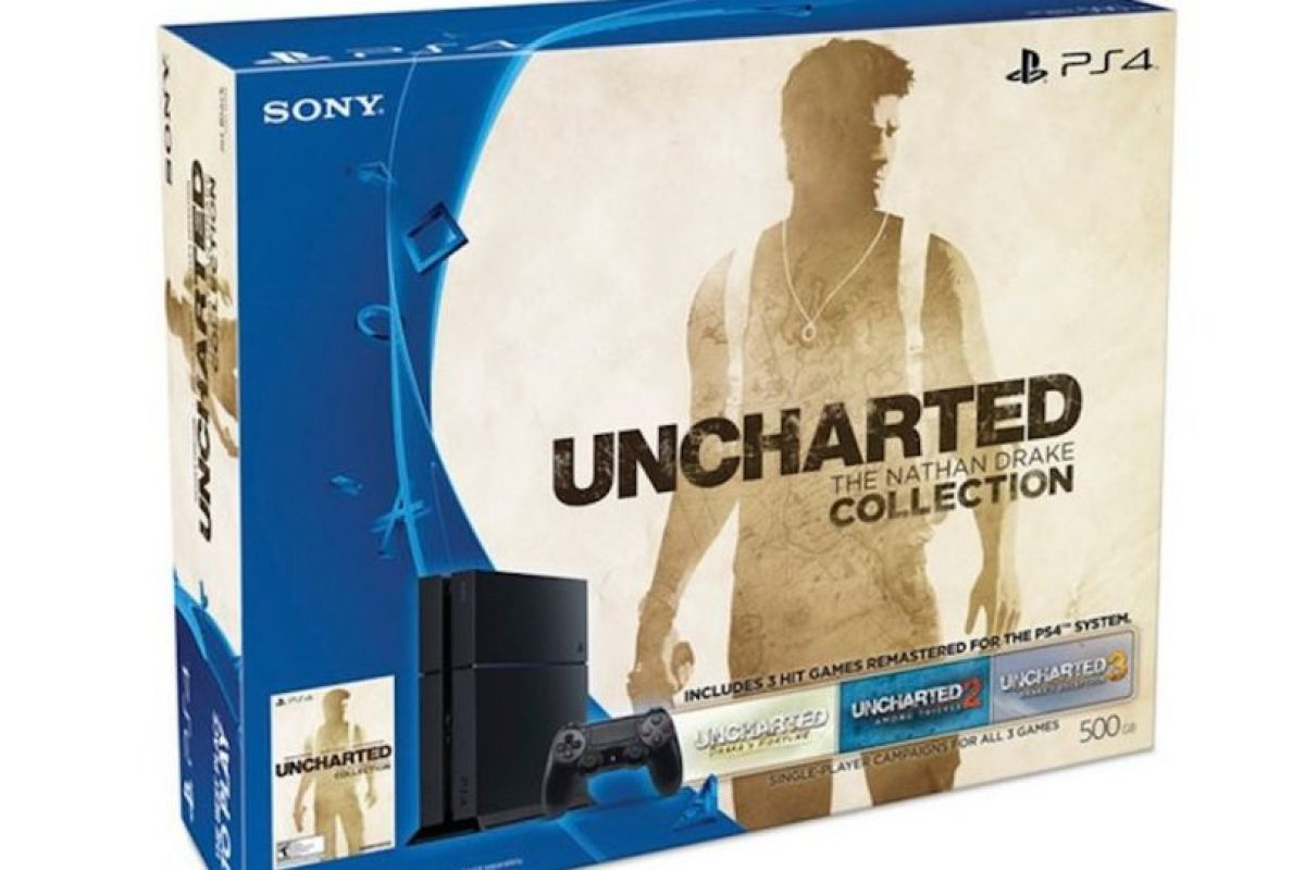 Paquete Uncharted: The Nathan Drake Collection PS4 de 500GB costará 349 dólares. Foto:Sony