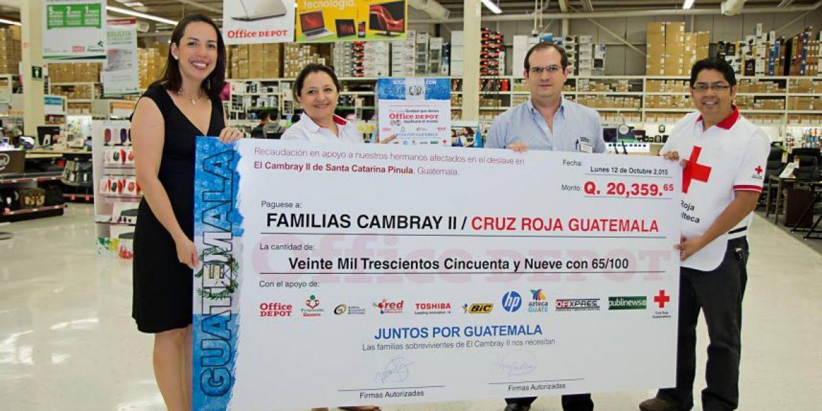 Afectados de El Cambray II reciben apoyo multiplicado por guatemaltecos