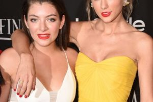 Taylor y Lorde Foto:Getty Images
