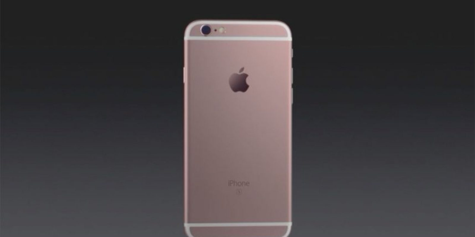 "iPhone 6s se distingue del iPhone 6 por una ""S"" en la parte posterior. Foto: Apple"