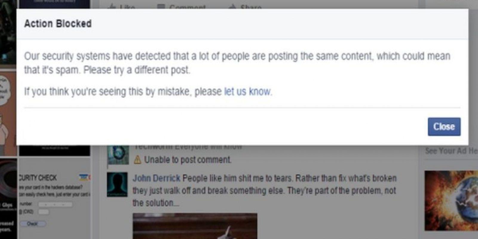 Usuarios se quejan en las redes sociales del error de Facebook. Foto:vía techworm.net