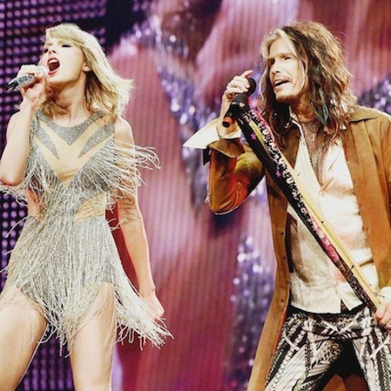 Taylor con Steven Tyler Foto:Instagram/TaylorSwift