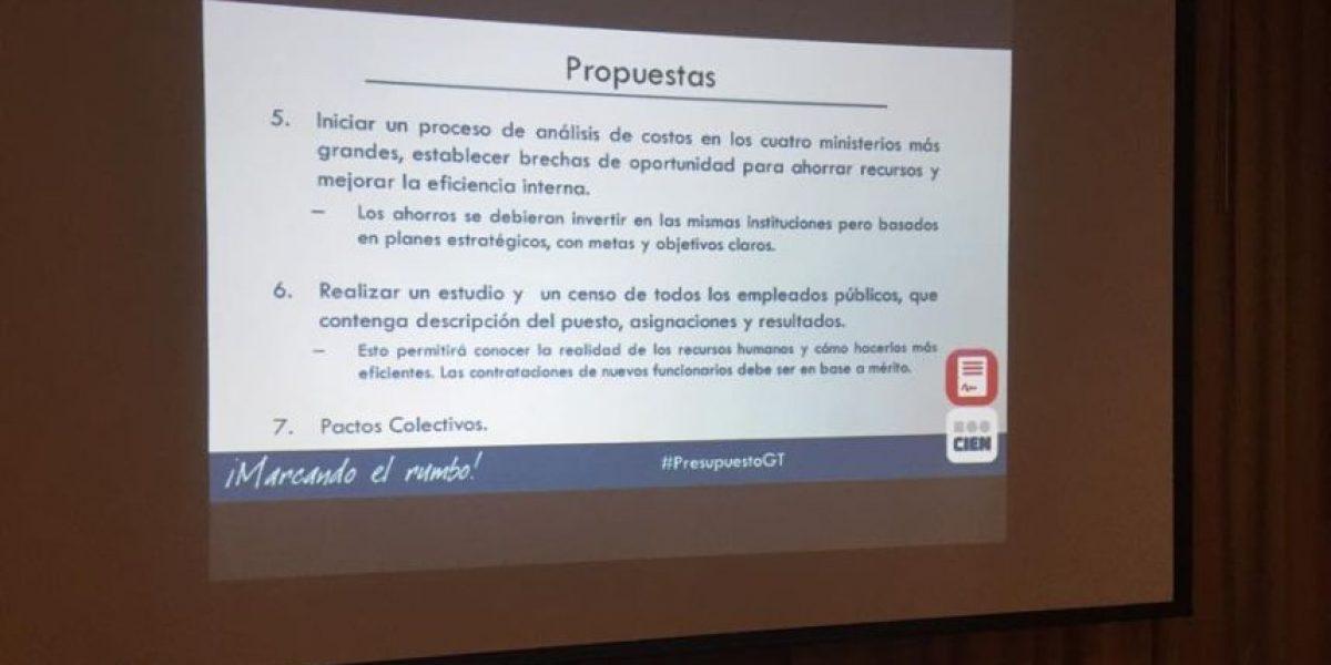 CIEN propone revisar el proyecto de presupuesto para lograr este ahorro millonario