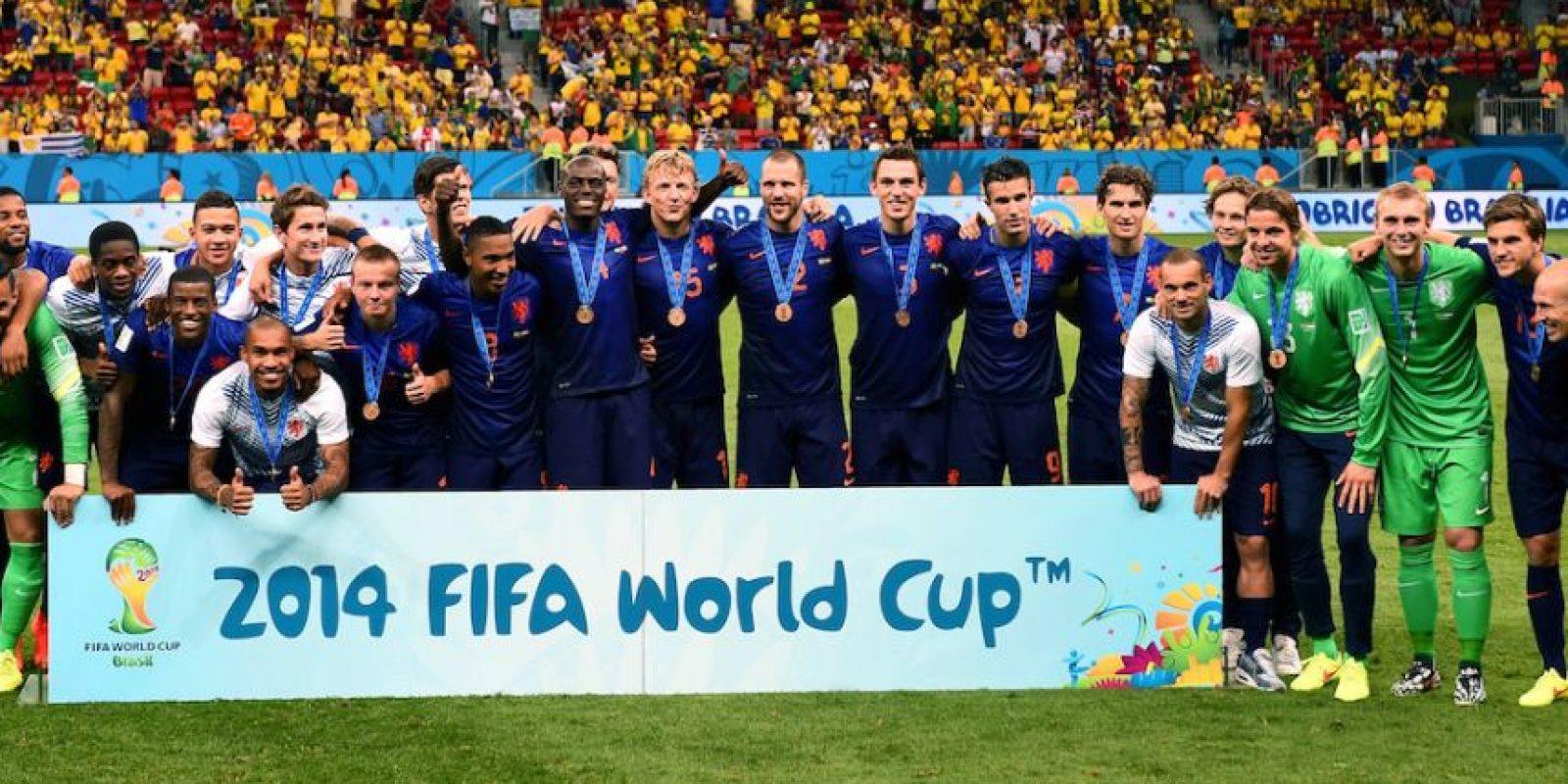 """La """"Naranja Mecánica"""" tuvo un buen Mundial en Brasil, y aunque cayó en semifinales ante Argentina, ganó el tercer lugar ante la escuadra local. Foto:Getty Images"""
