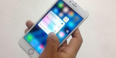 3D Touch es una de las novedades en el iPhone 6s. Foto:Nicolás Corte / Especial