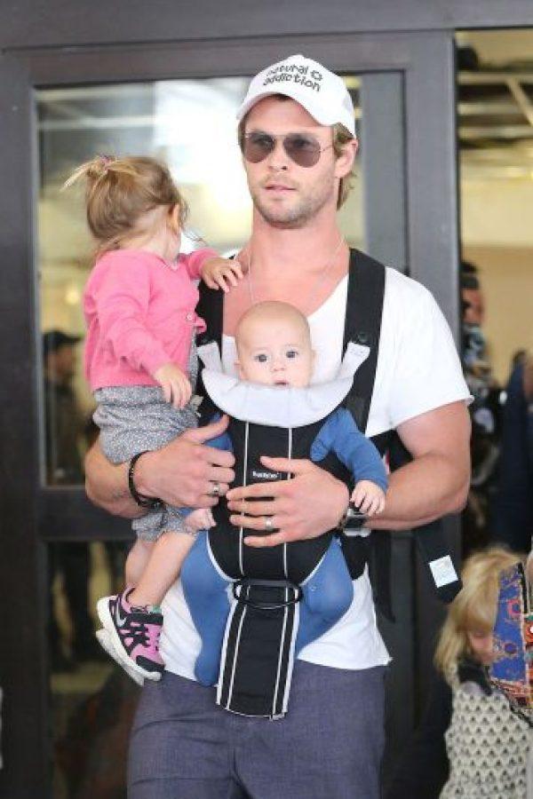 10. Chris Hemsworth es padre de una niña de tres años llamada India Rose y de dos mellizos varones, Tristán y Sasha de año y medio de edad. Foto:Grosby Group