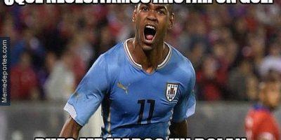 Diego Rolán marcó el segundo gol del partido. Foto:Vía facebook.com/Chistes-del-Fútbol-Mundial