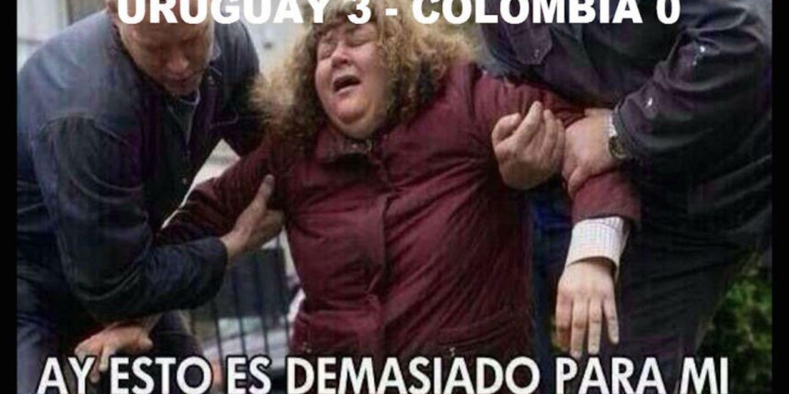 Pero en Uruguay, a Colombia le tocó sufrir. Foto:Vía twitter.com