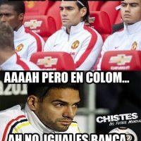 Y Falcao, las mismas de siempre. Foto:Vía facebook.com/Chistes-del-Fútbol-Mundial