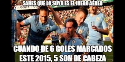 Diego Godín abrió el marcador. Foto:memedeportes.com