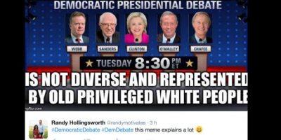 Y otros critican la procedencia (que fue cuestionada en el debate) de la mayoría de candidatos. Foto:vía Twitter