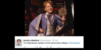 Las comparaciones fueron contundentes. Al debate republicano lo comparaban con el fanfarrón de Harry Potter, Gilderoy Lockhart. Foto:vía Twitter