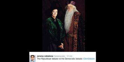 A los demócratas con los personajes más ancianos y sabios de la saga de J.K. Rowling, la maestra McGonagall y Albus Dumbledore. Foto:vía Twitter