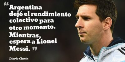 "Así reaccionó ""Clarín"", luego del empate ante Paraguay. Foto:Getty Images"