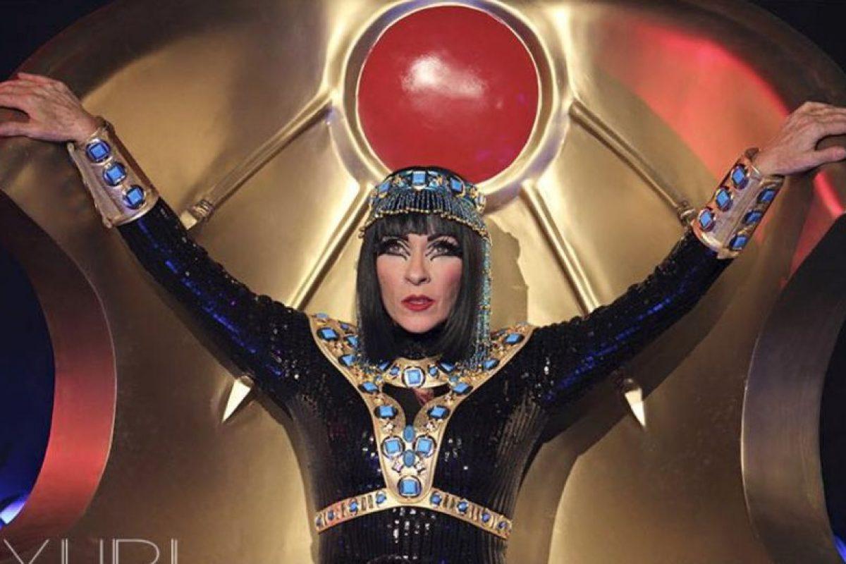 Y el look por el que la compararon con Katy Perry. Foto:vía Facebook/Yuri