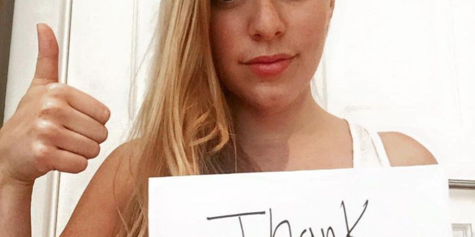 Gracias por decir algo cuando ese hombre me agarró. Gracias por insistir en que no era aceptable Foto:facebook.com/kaitlyn.regehr1