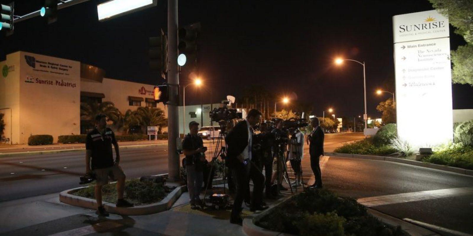 Poco después, se le condujo al Sunrise Hospital de Las Vegas, donde ahora se encuentra. Foto:Getty Images
