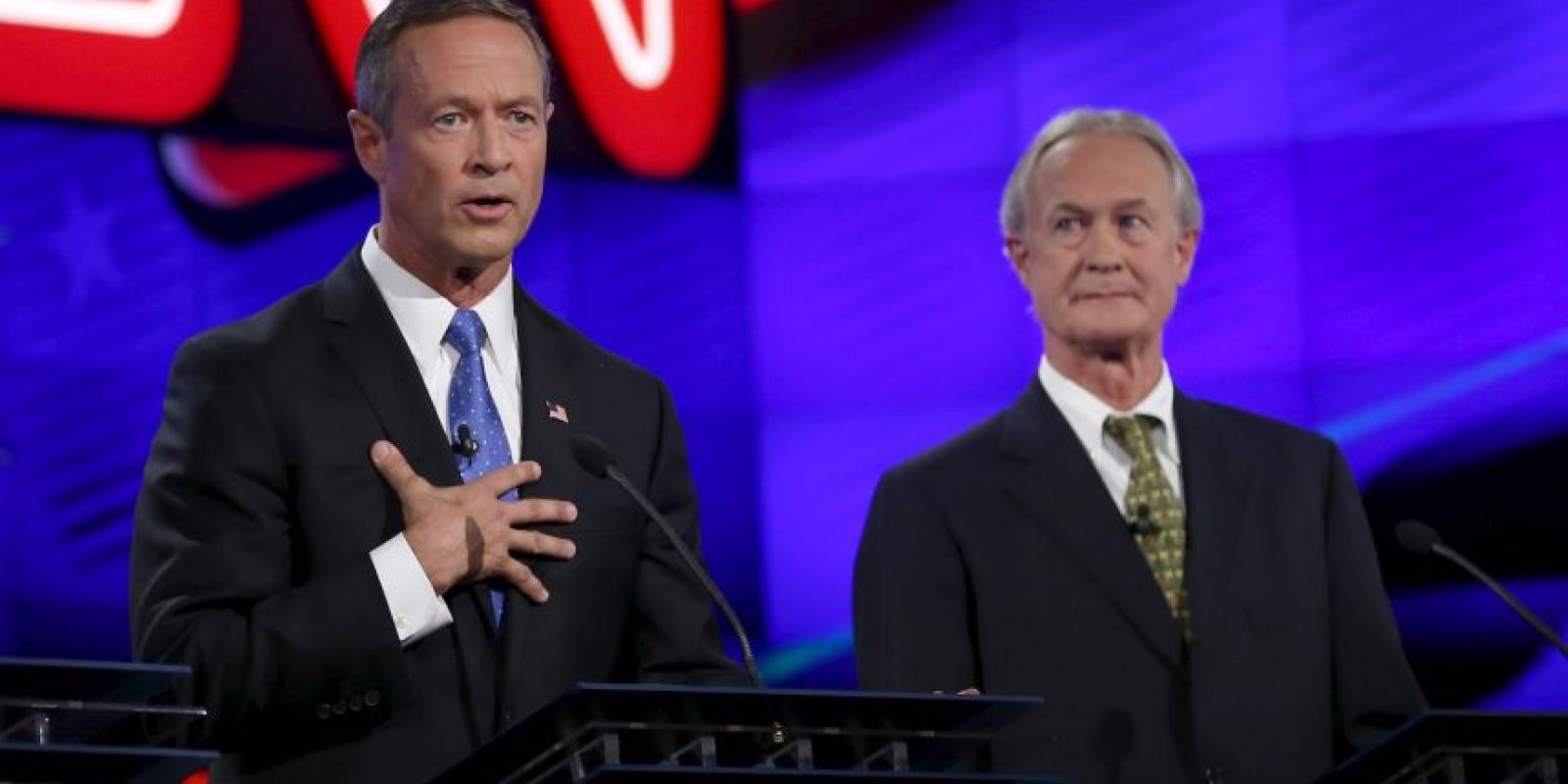 Martin O'Malley (izq) y Lincoln Chafee (der). Foto: Getty Images