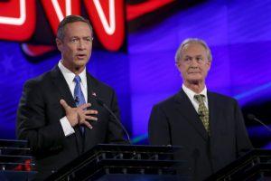 Martin O'Malley (izq) y Lincoln Chafee (der). Foto:Getty Images