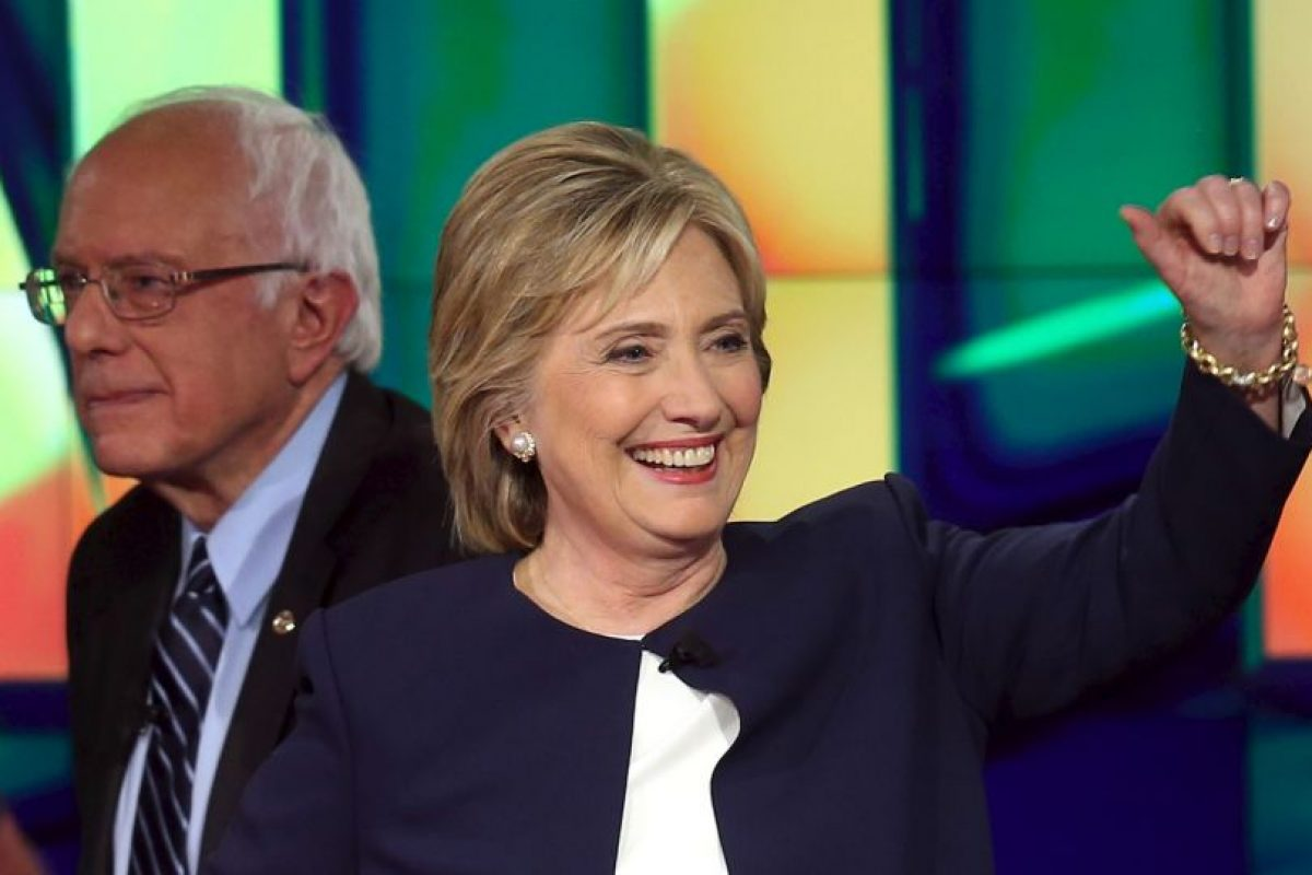 Como única mujer y con la mejor posición en las encuestas se presento la ex Secretaria de Estado, Hillary Clinton Foto:Getty Images