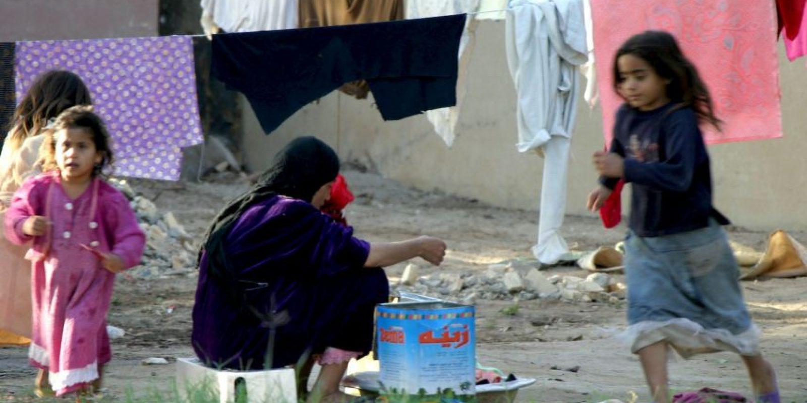 Los refugiados que residen en los campamentos reciben 28 dólares al mes. Foto:Getty Images