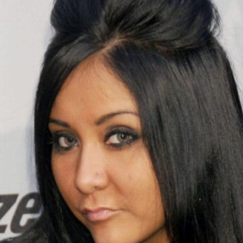 """""""Snooki"""", o Nicole Polizzi, tuvo varios problemas de peso antes del programa. Foto:vía Getty Images"""