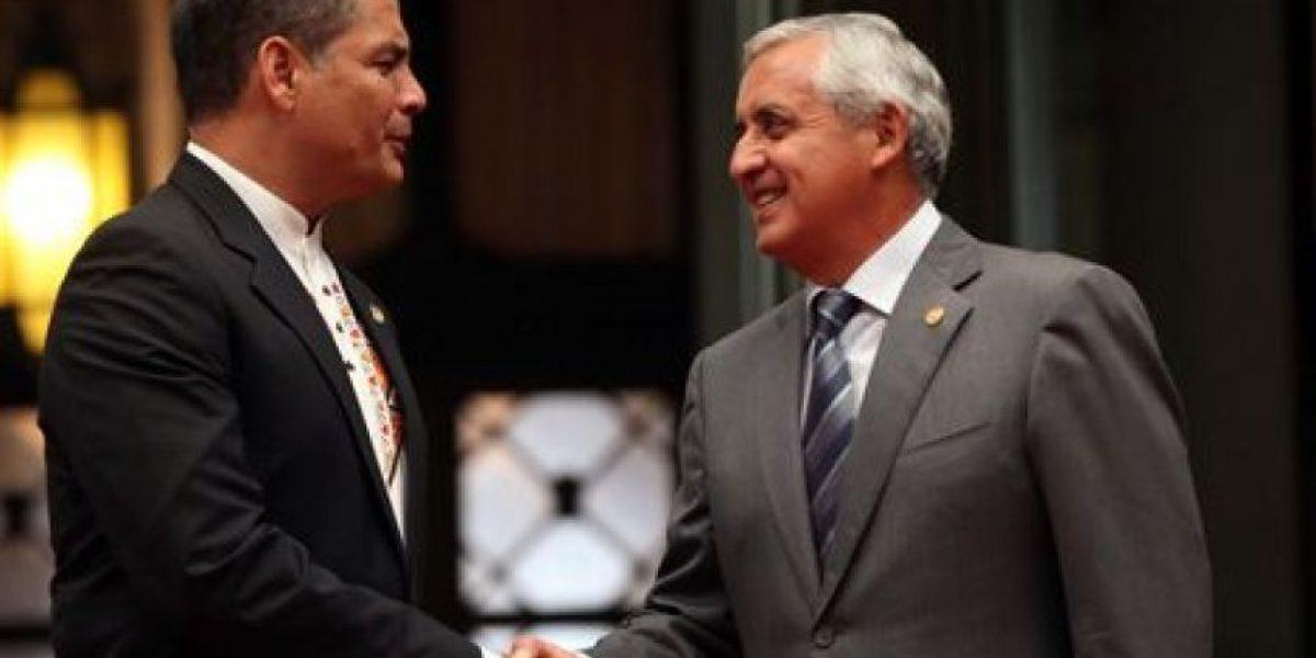 Expresidente Otto Pérez pide ayuda a presidente de Ecuador Rafael Correa