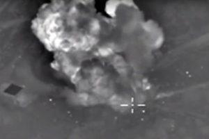 Imágenes de los bombardeos, dadas a conocer por el Ministerio de Defensa de Rusia Foto:AFP