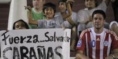 El exdelantero observó el juego desde las gradas del estadio Defensores del Chaco. Foto:AFP