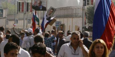 Portaban banderas de ambas naciones Foto:AFP