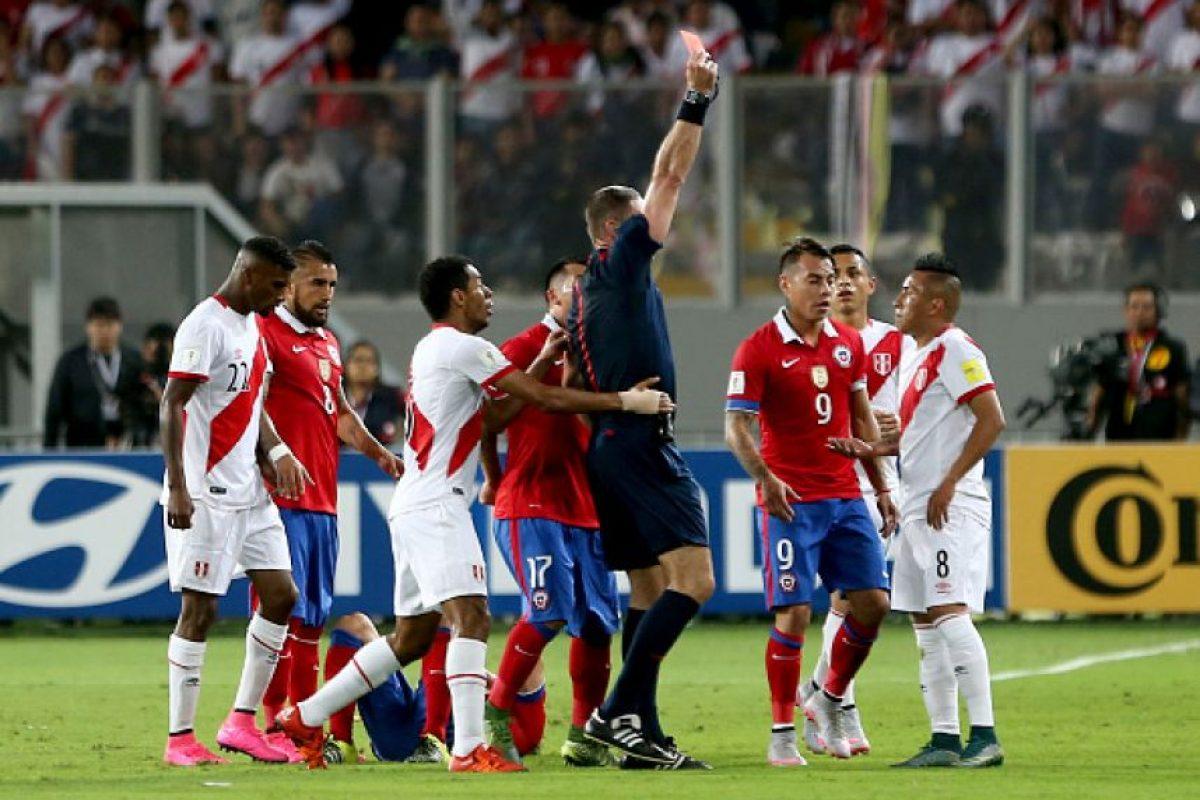 También los peruanos explotaron por el mensaje de los chilenos en el Estadio Nacional de Lima. Foto:Getty Images