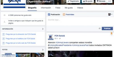 Foto:Facebook FCN Sololá