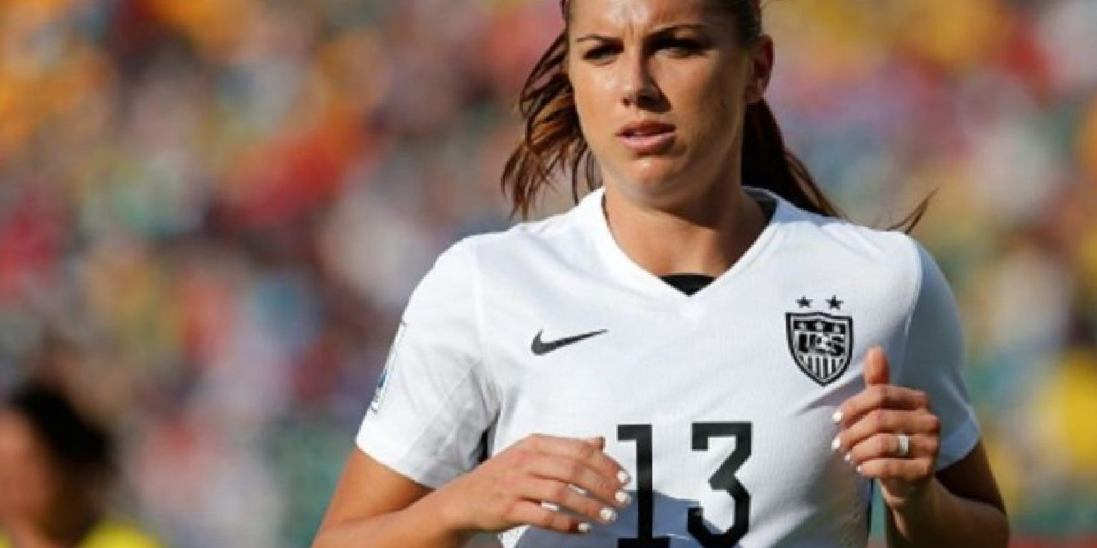 La estadounidense Alex Morgan juega en el Portland Thorns FC. Foto: Getty Images