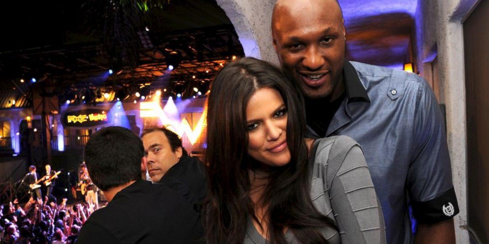 Khloé Kardashian y Lamar Odom Foto:Getty Images