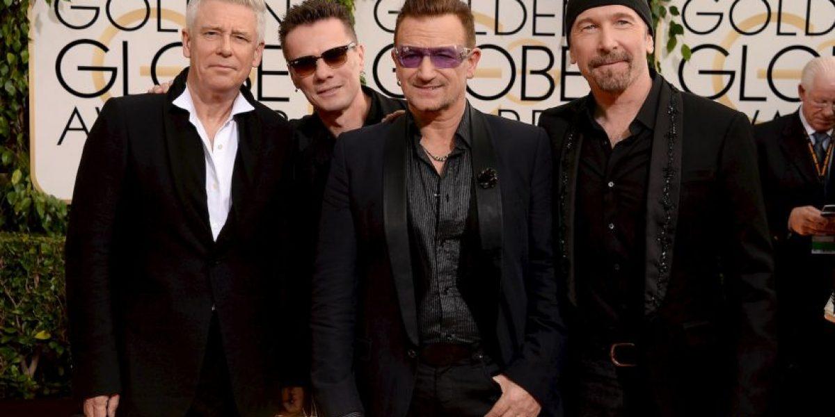 Penélope Cruz y Javier Bardem irrumpen en el concierto de U2