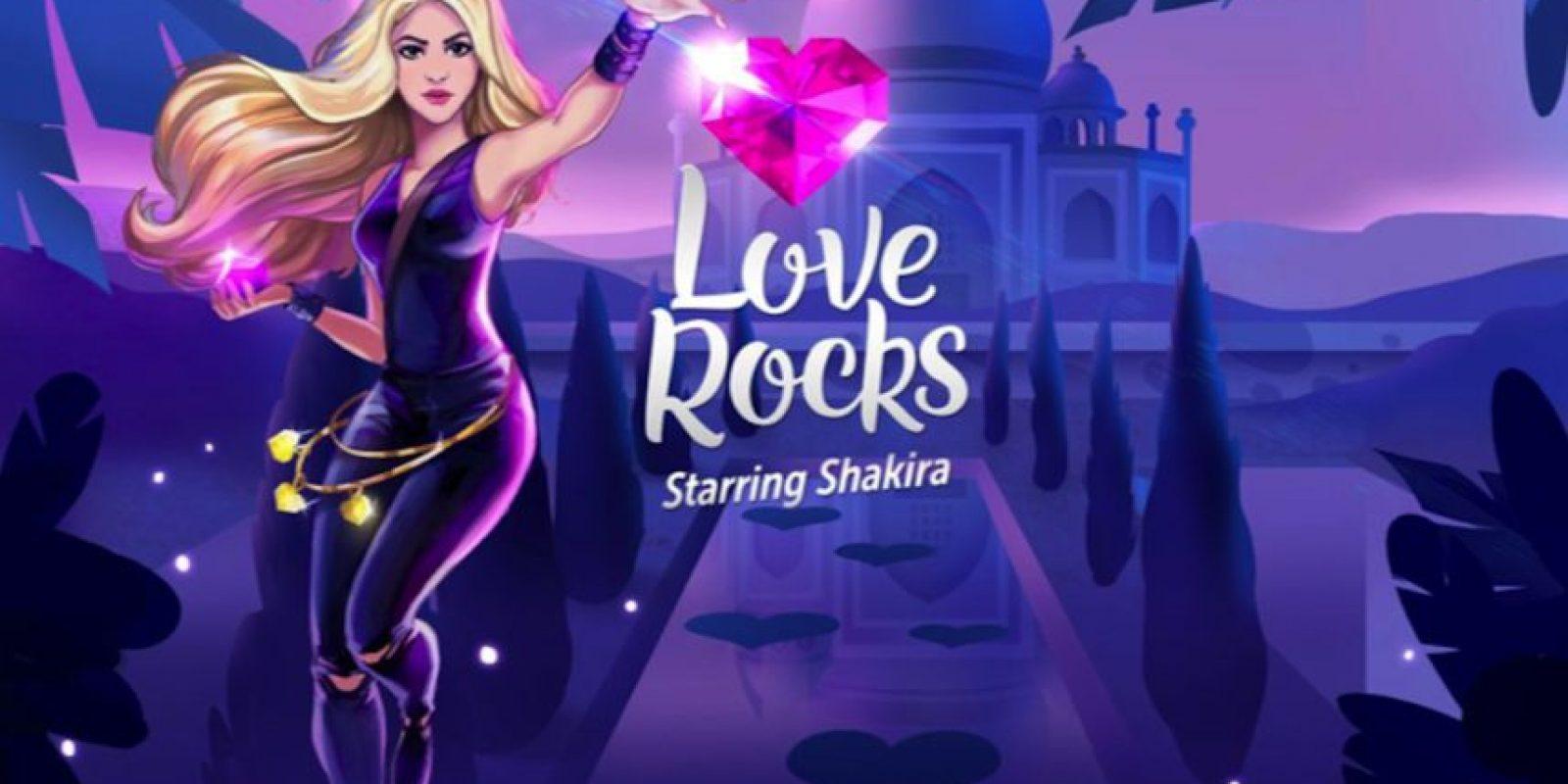 """""""Love Rocks"""" es el nuevo juego para móviles de Shakira. Foto:Rovio"""