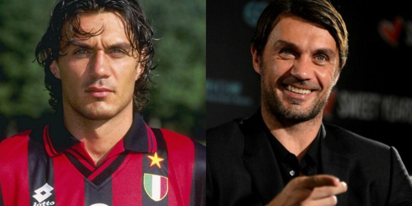 Paolo Maldini: Tiene 47 años y es una leyenda viva del AC Milán y la selección de Italia. Se retiró en 2009. Foto:Getty Images