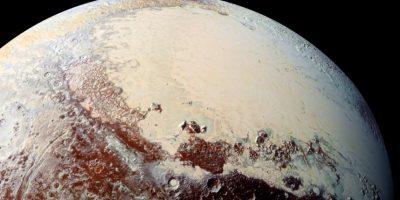 La superficie de Plutón muestra una notable gama de colores. Foto:Vía nasa.gov