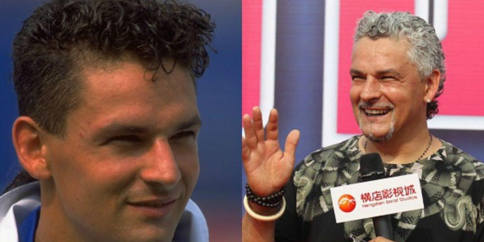 Roberto Baggio: El subcampeón del mundo en 1994 (todos recordamos su penal fallado ante Brasil) hoy tiene 48 años. Jugó en equipos como Juventus, Inter y AC Milán para retirarse en 2004. Foto:Getty Images