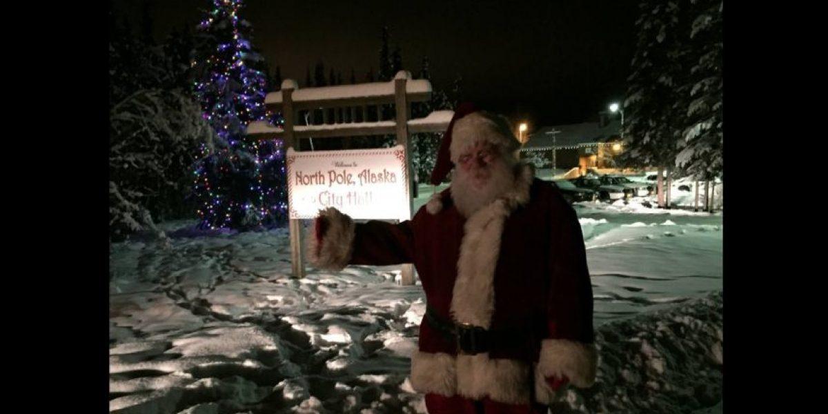 Santa Claus ya tiene un nuevo trabajo en el Polo Norte