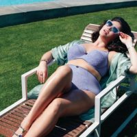Candice Huffine pesa 90 kilos y fue ultrafamosa el año pasado por ser la primera modelo plus size en aparecer en el calendario Pirelli. Foto:vía Facebook