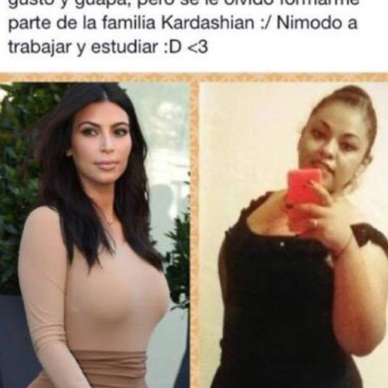 Kim Posando vs. mujer posando. Foto:vía Nacadas de la Vida Real