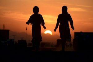 Refugiadas afganas. Foto:AFP