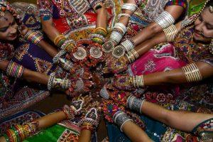 Danzantes indias. Foto:AFP