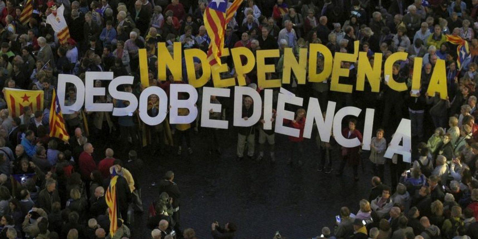Manifestación en Barcelona. Foto:AFP