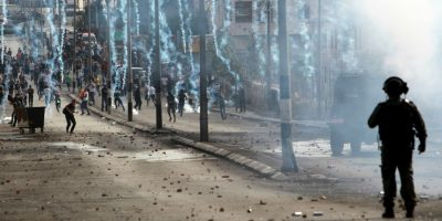 Conflicto de israelíes y palestinos. Foto:AFP