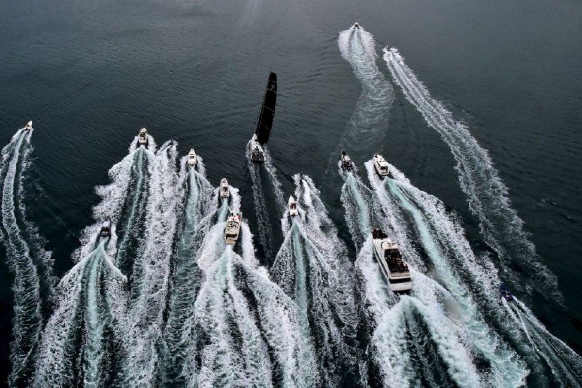 La regata Barcolana 47a en el Golfo de Trieste, en Italia. Foto:AFP