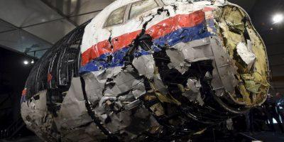 La cabina destrozada del MH17 vuelo Malaysia Airlines . Foto:AFP